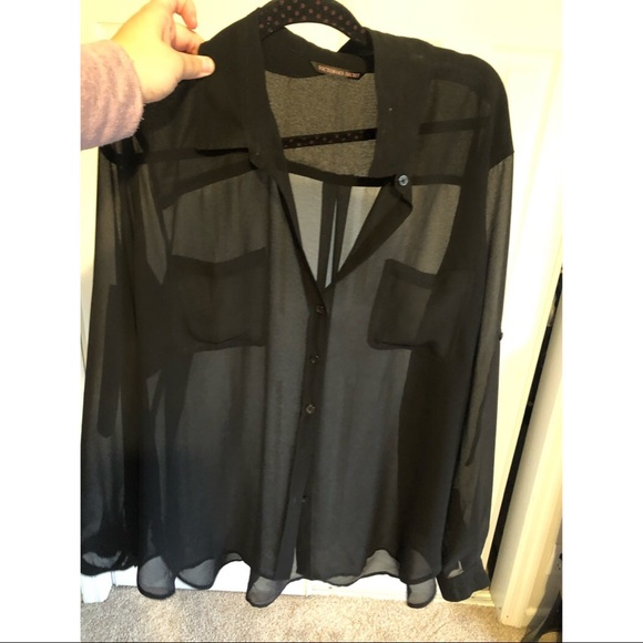 Victoria's Secret Tops - Black, translucent long sleeve blouse